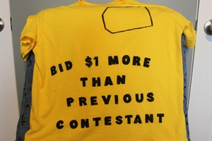 If contestants were chosen for t-shirt cleverness, we would have been shoe-ins.